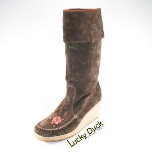 Report Ataani Suede Moccasin Boots Women's SZ 9